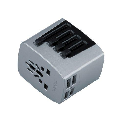 MOMAX 1-World 4 USB AC Travel Adapter 22.5W AC100-230V