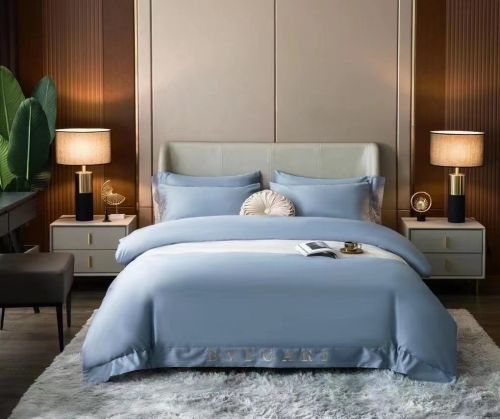 BVLGARI Set Series 4 in 1 Pack Bed Cover: 220mm x 230mm, Bed Sheet 240mm x 250mm, Pillowcase 48mm x 74mm x2mm