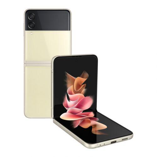 Samsung - Galaxy Z Flip3 5G 256GB Factory Unlocked Global Carrier Network -Cream