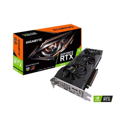 Gigabyte GeForce RTX 2070 Windforce 8G Graphics Card, 3X Windforce Fans, 8GB 256-Bit GDDR6, GV-N2070WF3-8GC Video Card