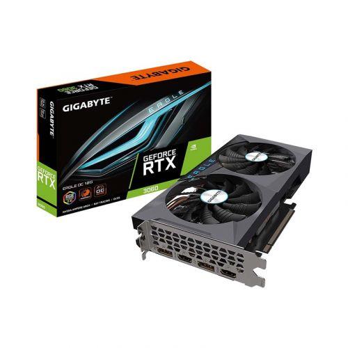 GIGABYTE GeForce RTX 3060 Eagle OC 12G Graphics Card, 2X WINDFORCE Fans, 12GB 192-bit GDDR6, GV-N3060EAGLE OC-12GD Video Card
