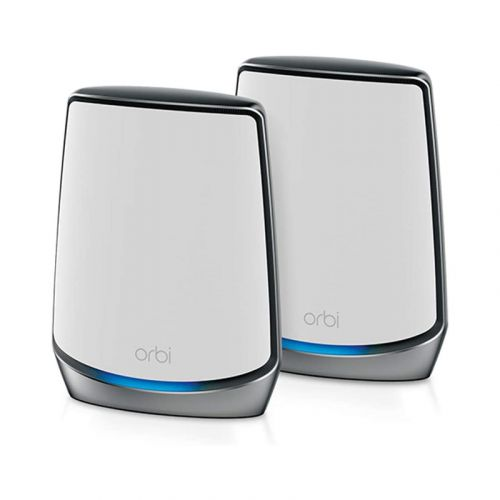 NETGEAR Orbi Whole Home Tri-band Mesh WiFi 6 System (RBK852) – Router with 1 Satellite Extender   Coverage up to 5,000 sq. ft. and 100+ Devices   AX6000 (Up to 6Gbps)