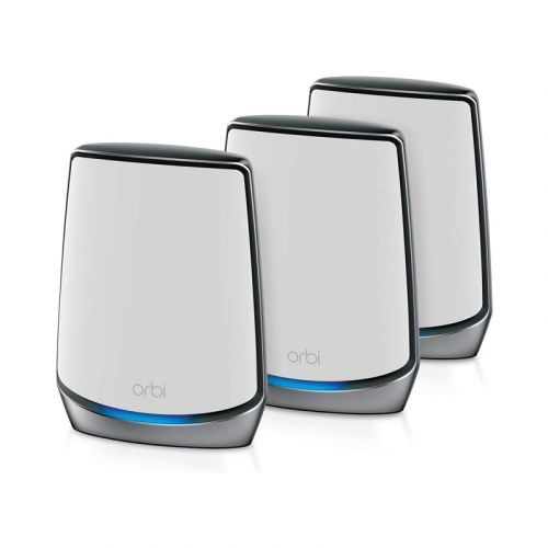 NETGEAR Orbi Whole Home Tri-band Mesh Wi-Fi 6 System (RBK853) – Router with 2 Satellite Extenders, Coverage Up to 7,500 Square Feet and 100+ Devices, AX6000 (Up to 6Gbps)