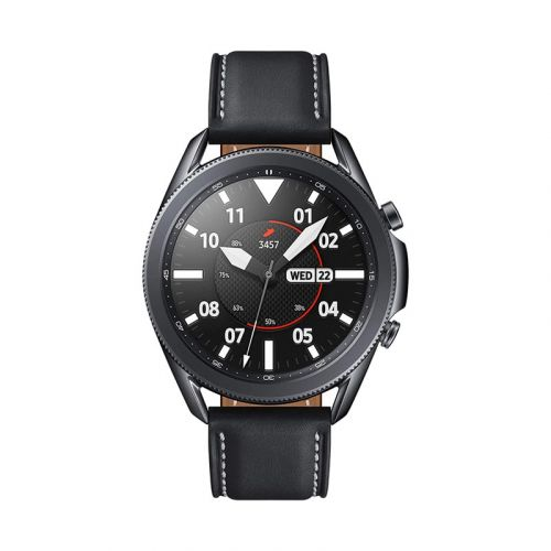 SAMSUNG Galaxy Watch 3 (45mm, GPS, Bluetooth) Smart Watch with Advanced Health Monitoring, Fitness Tracking, and Long lasting Battery - Mystic Black (HK Version)