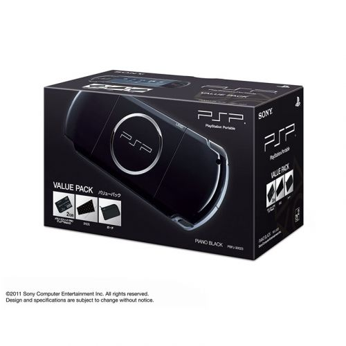 SONY PSP PlayStation Portable Console JAPAN MODEL PSP-3000 Piano Black Value Pack