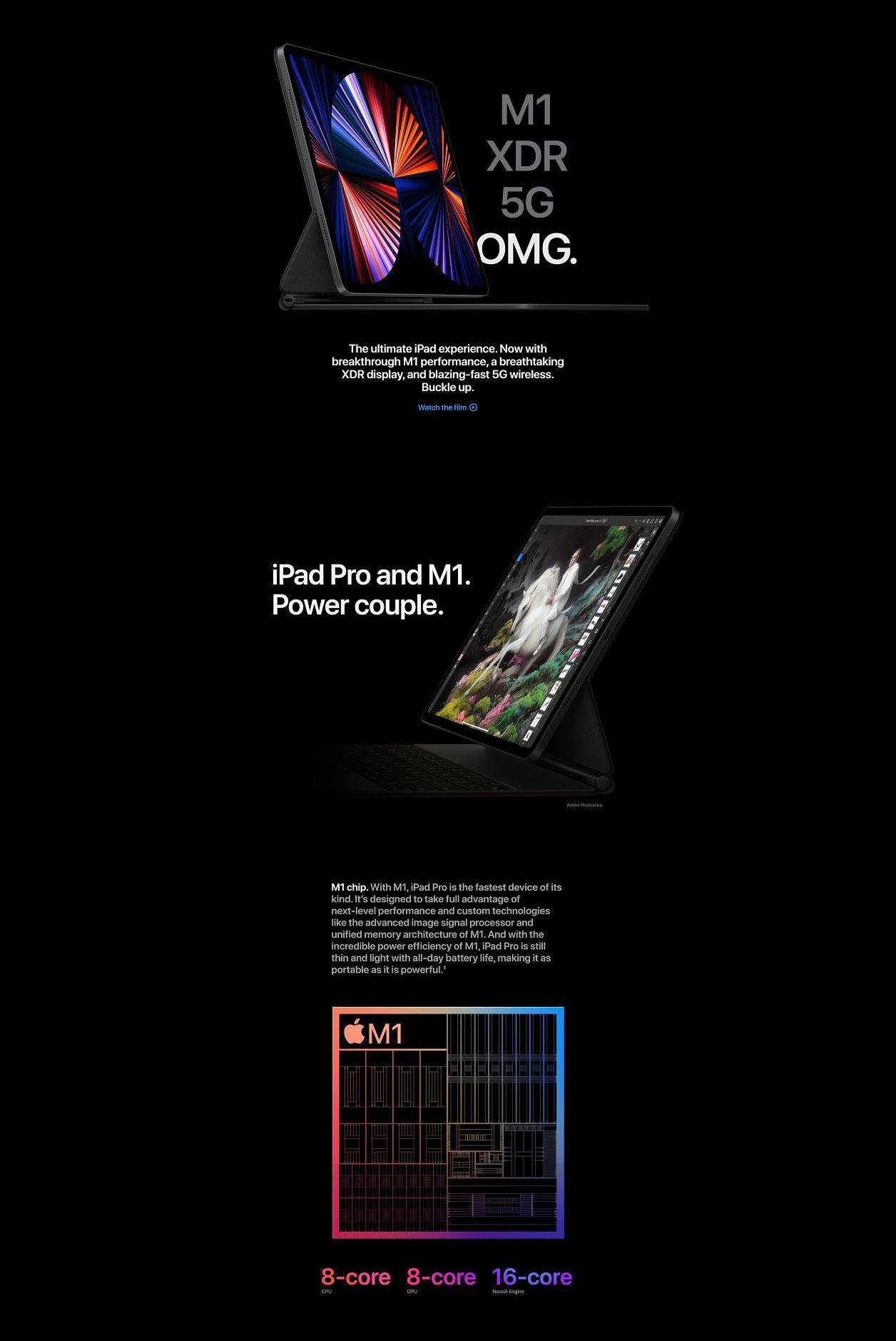 NEW 2021 Apple 11-inch iPad Pro Wi-Fi + Cellular 5G M1 ...