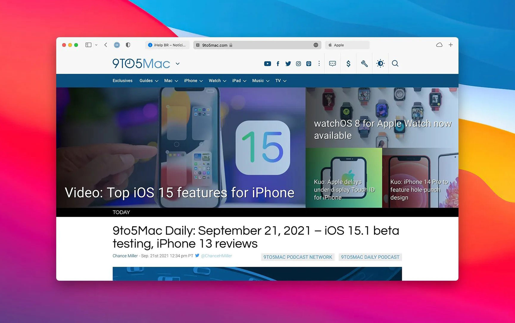 Safari 15 with new tab design now available for macOS Big Sur and Catalina users